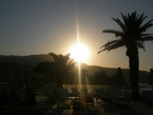 Sunset in Crete