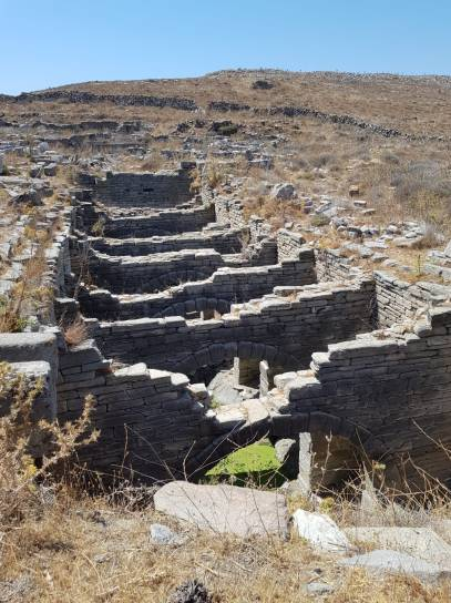 Delos waterduct, next to the Amphytheatre