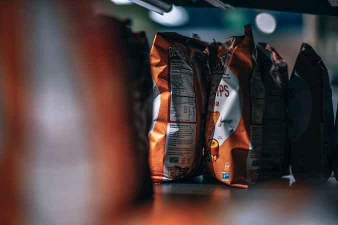 selective focus photography of chips